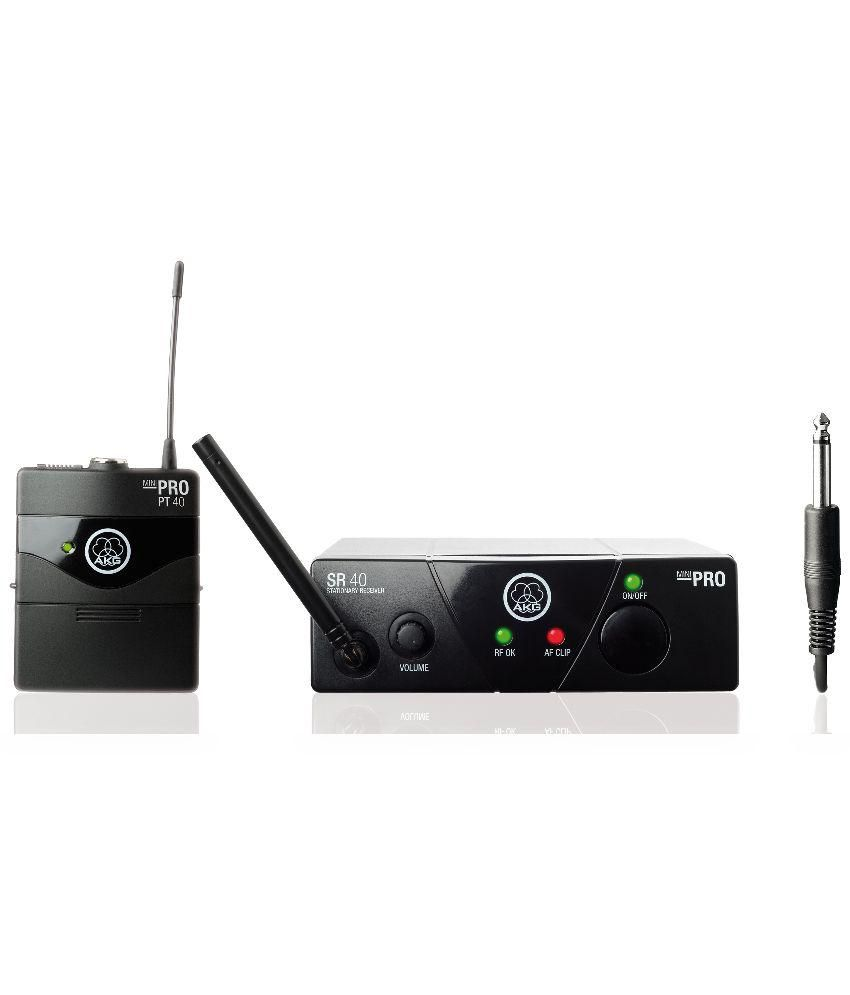 AKG WMS40 Mini Instrument Wireless Microphone System   Black