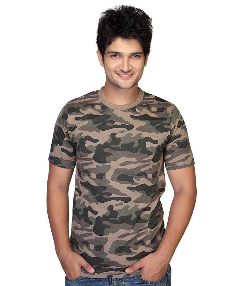 Clifton Fitness Men's Army T-shirt -Walnut