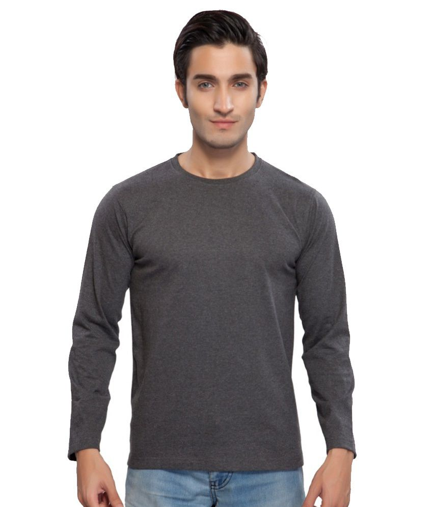 Clifton Fitness Men's Mustee Full Sleeve -Char Coal Melange
