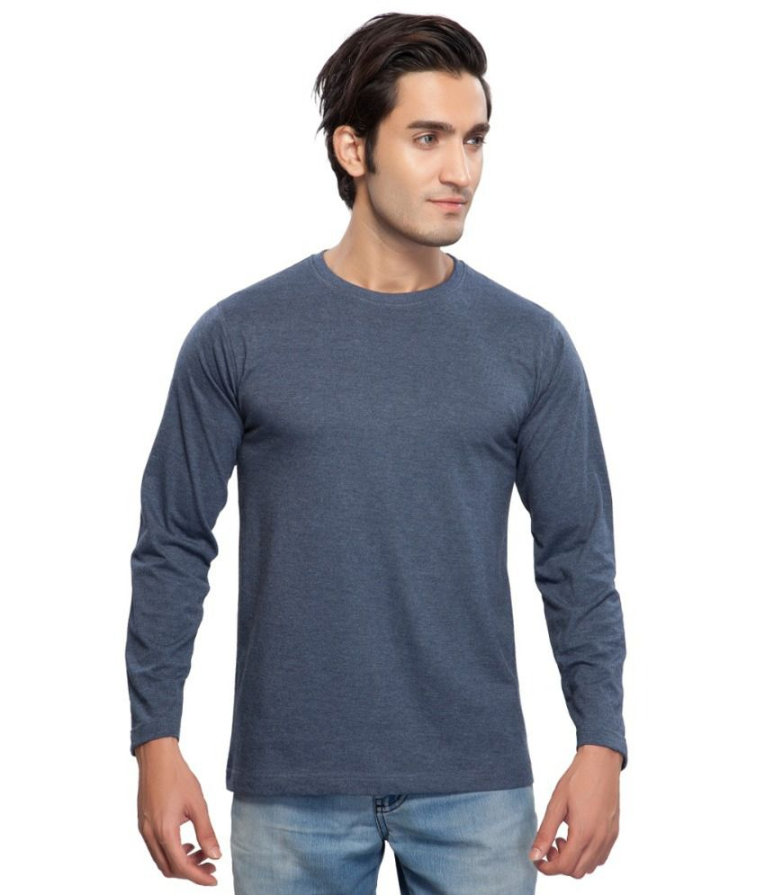 Clifton Fitness Men's Mustee Full Sleeve -Blue Melange