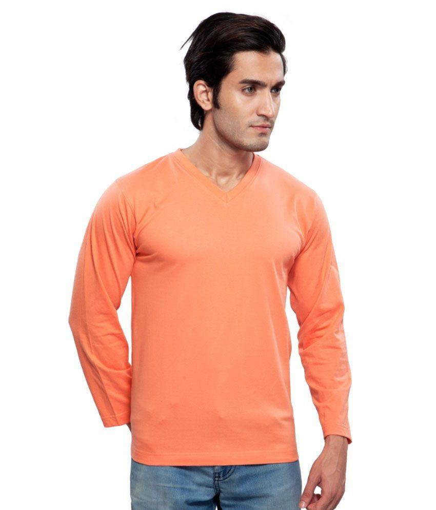 Clifton Fitness Men's Mustee Full Sleeve -Deep Orange