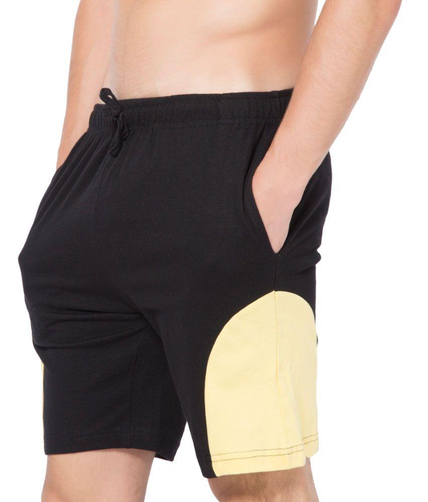 Clifton Fitness Men's Shorts -Black-Beige