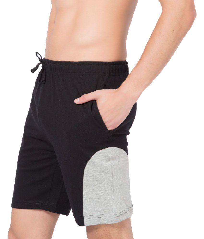 Clifton Fitness Men's Shorts -Black-Grey Melange
