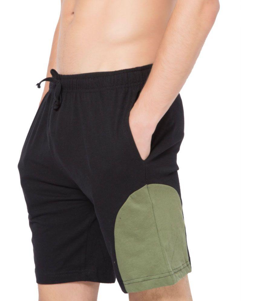 Clifton Fitness Men's Shorts -Black-Olive