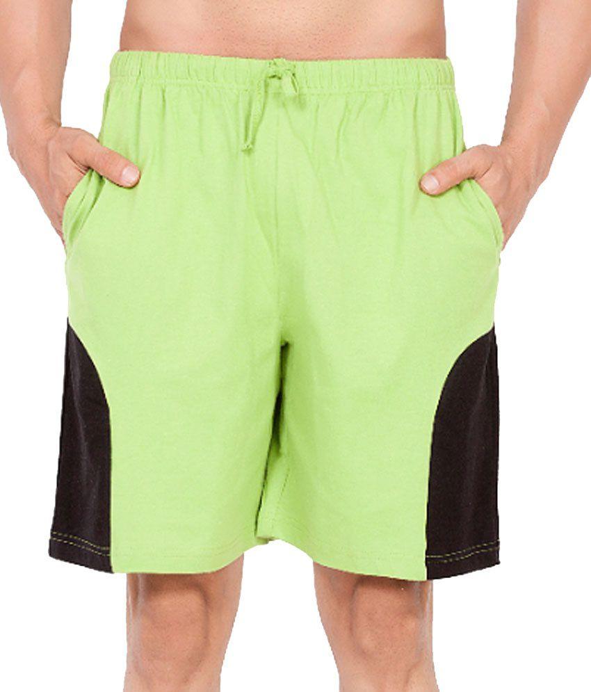 Clifton Fitness Men's Shorts -ParrotGreen/Black