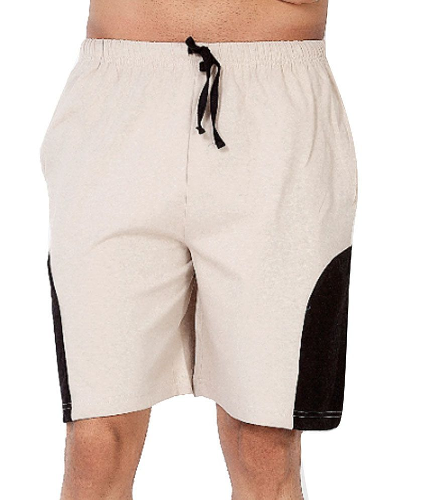 Clifton Fitness Men's Shorts -Stone/Black