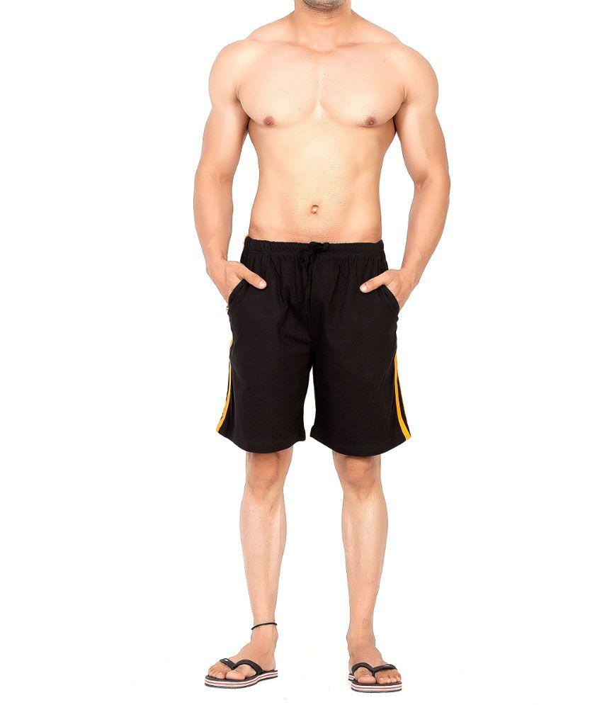 Clifton Fitness Men's Shorts Stripes -Black/Saffari