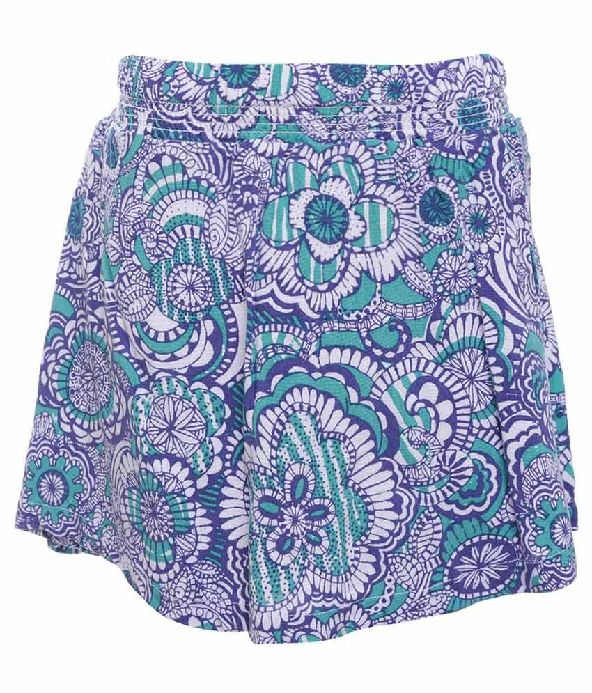 UFO Green Printed Skirt