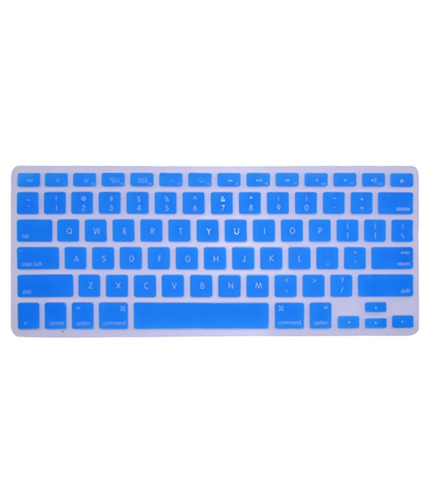 Heartly Keyboard Crystal Skin Protector For Apple MacBook Retina Display Blue