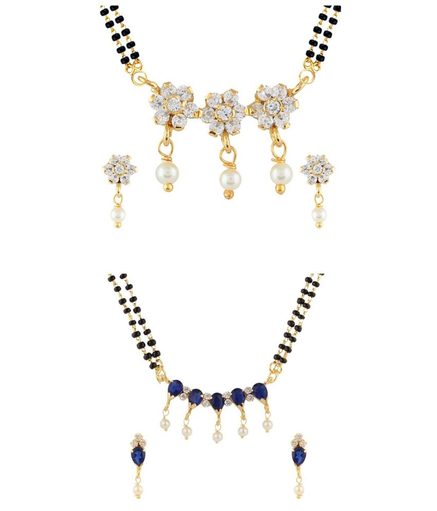 Parijaat Multicolor Alloy Mangalsutra Set - Pack of 2
