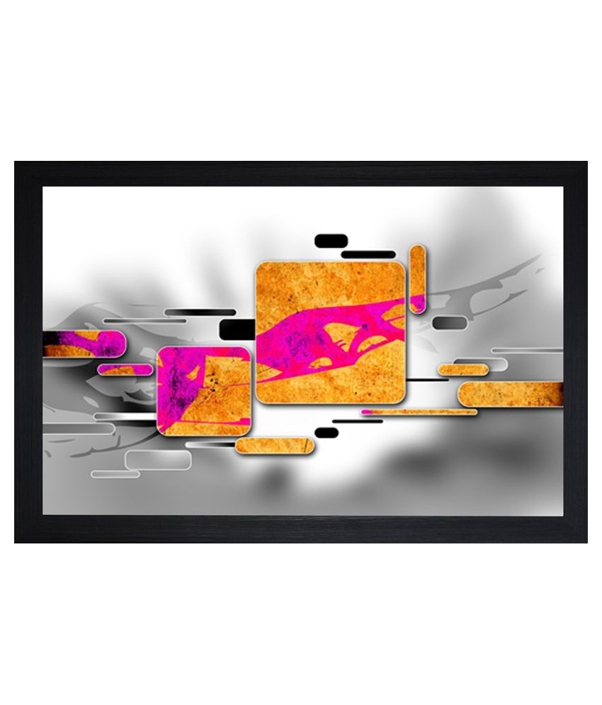 SAF Abstract Painting with Wooden Frame