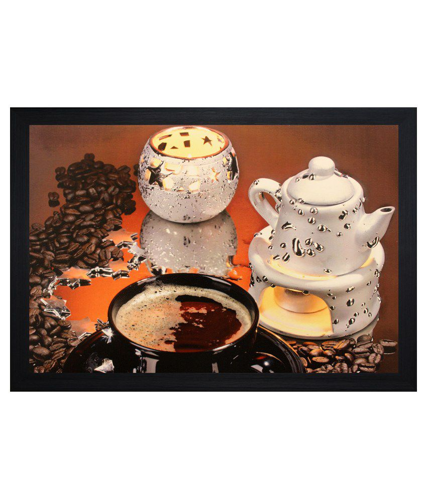 SAF Textured Wooden Still Life Painting With Frame