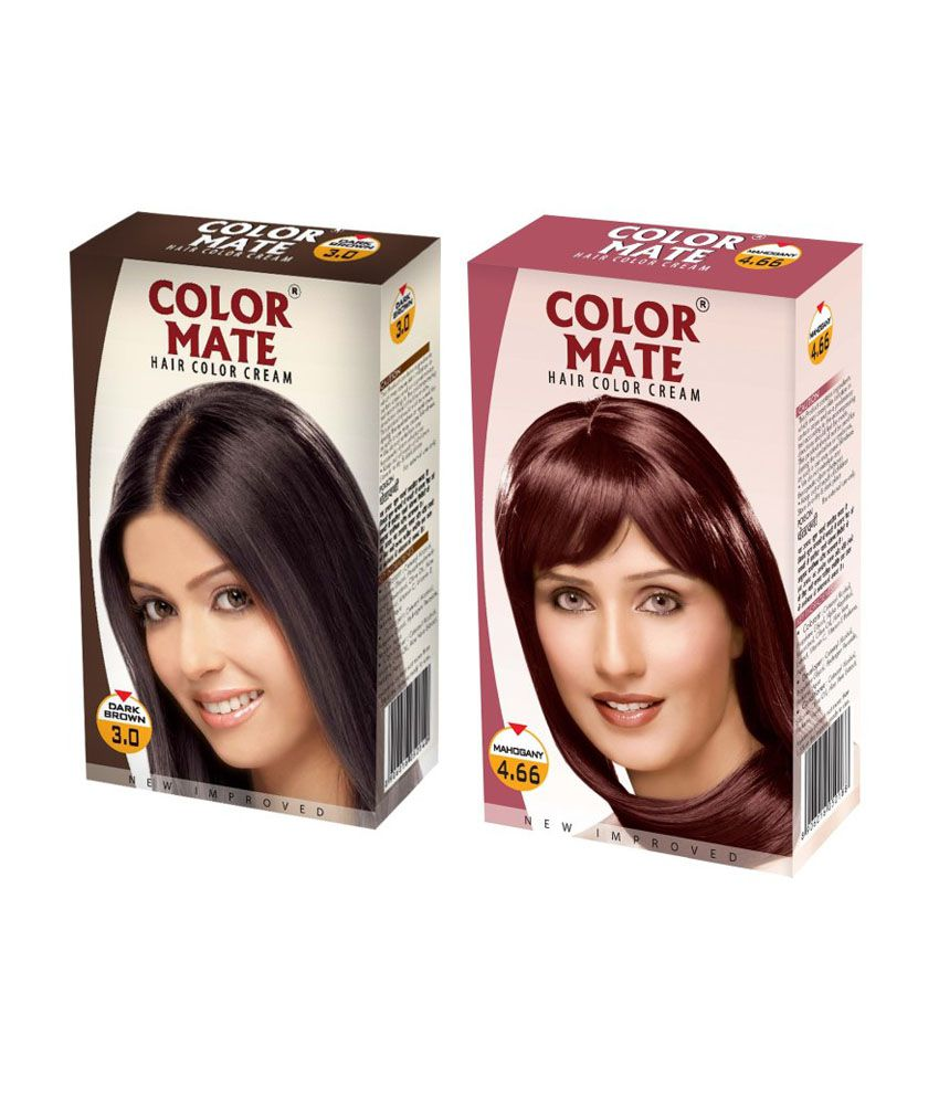 Color Mate Hair Color Cream Dark Brown Mahogany Buy