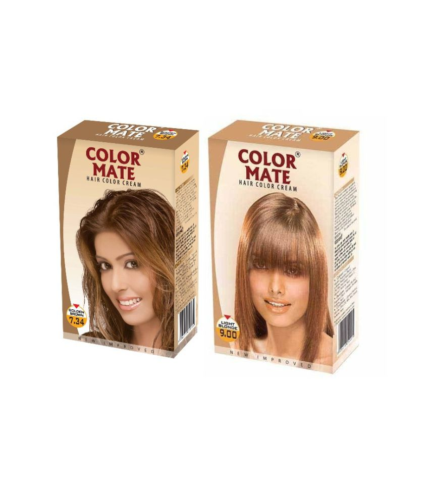 Color Mate Hair Color Cream Golden Brown Light Blonde