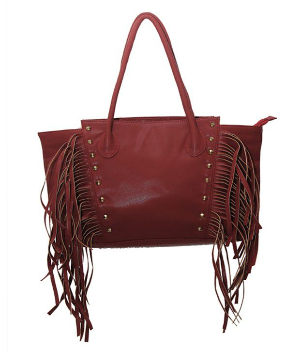 Glitter Glory Shoulder Bags-Maroon