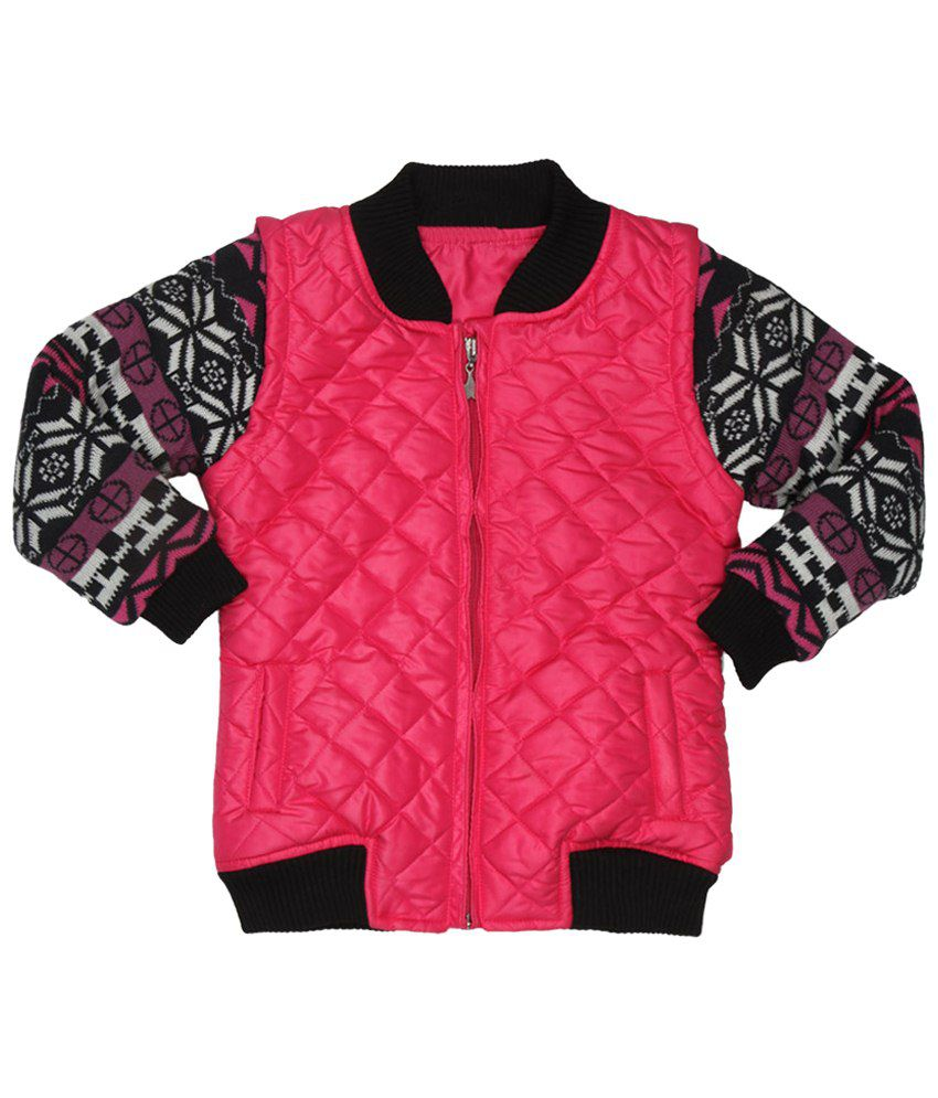 Stop by Shoppers Stop Pink Full Sleeves Quilted & Bomber AW15