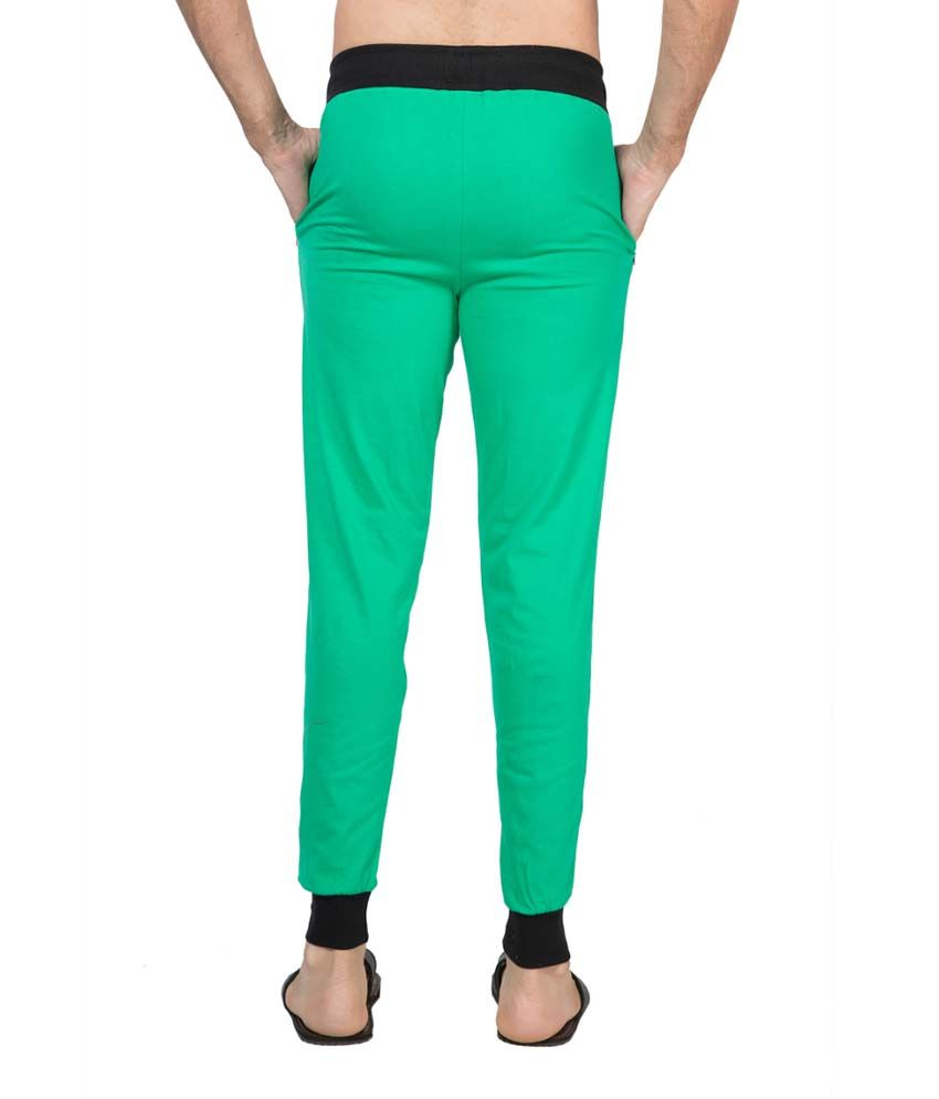Clifton Fitness Men's Ribbed Slim Fit Track Pant -Stump Green