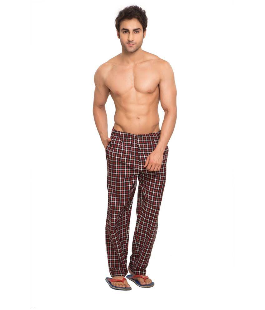Clifton Men's Woven Pyjama -Black & Red Checks