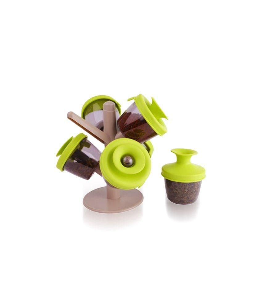 Home creations green spice container set buy online at for Home creations