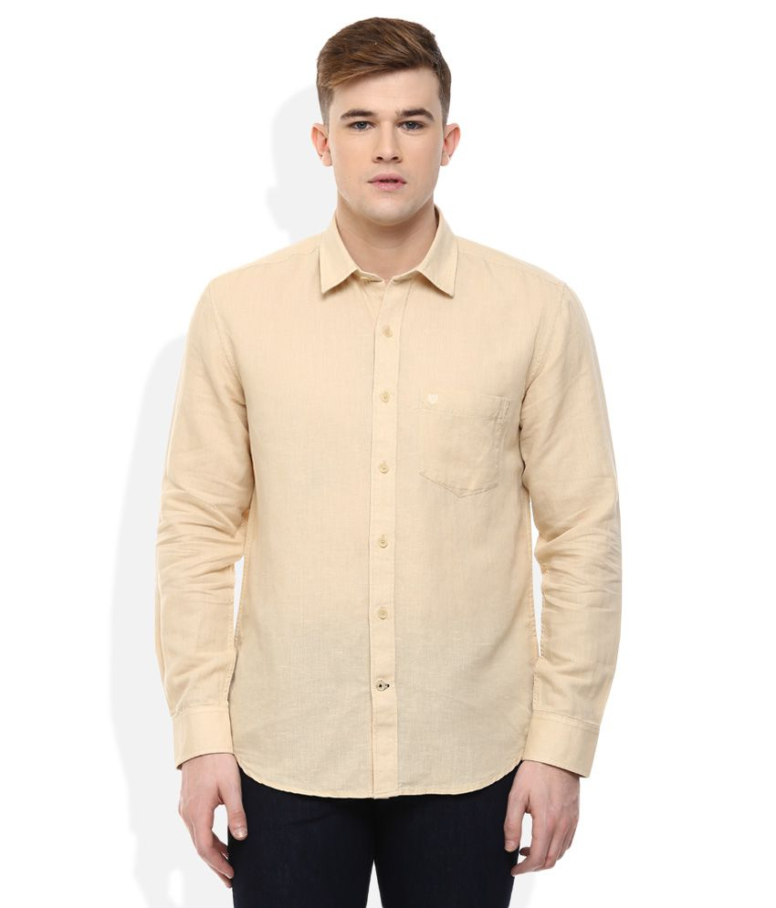 Proline Brown Regular Fit Shirt