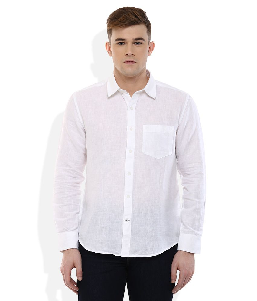 Proline White Regular Fit Shirt