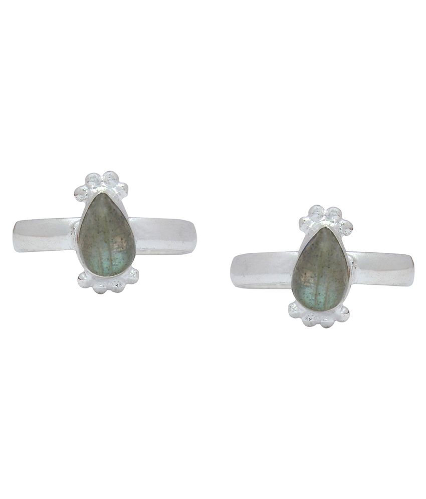 Ranvijay Gray Designer Toe Rings