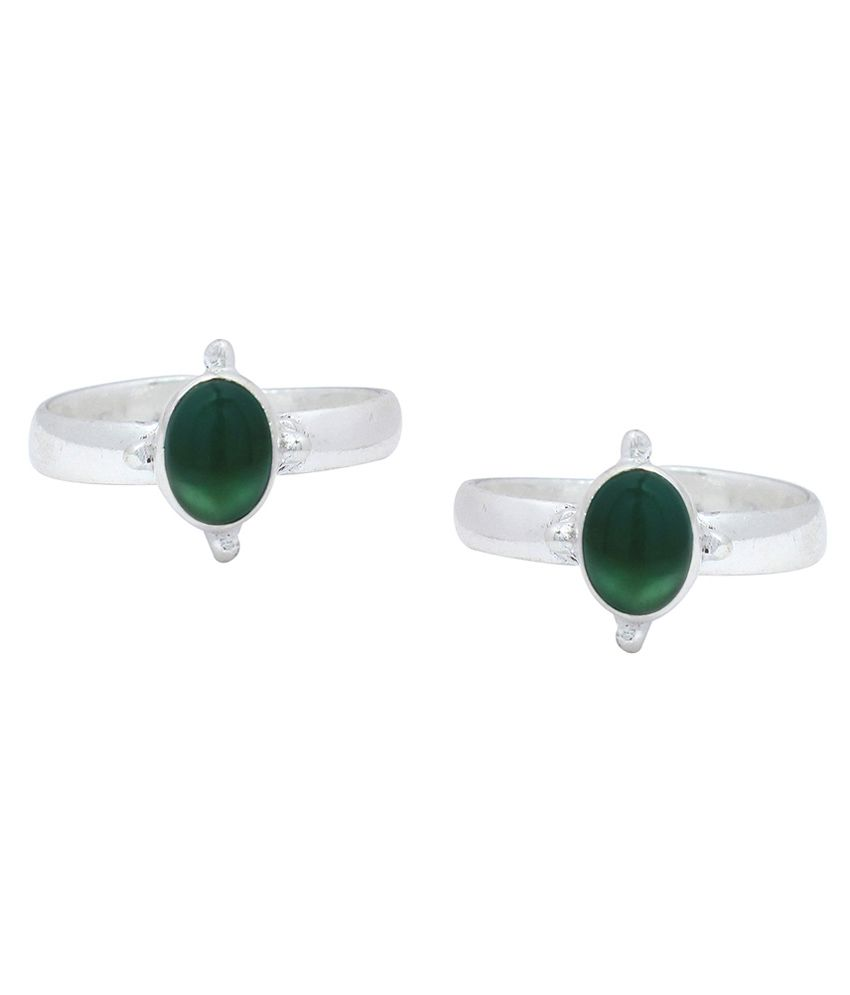 Ranvijay Green Designer Toe Rings