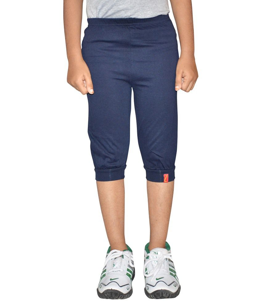 Metro Collections Navy Cotton Capris
