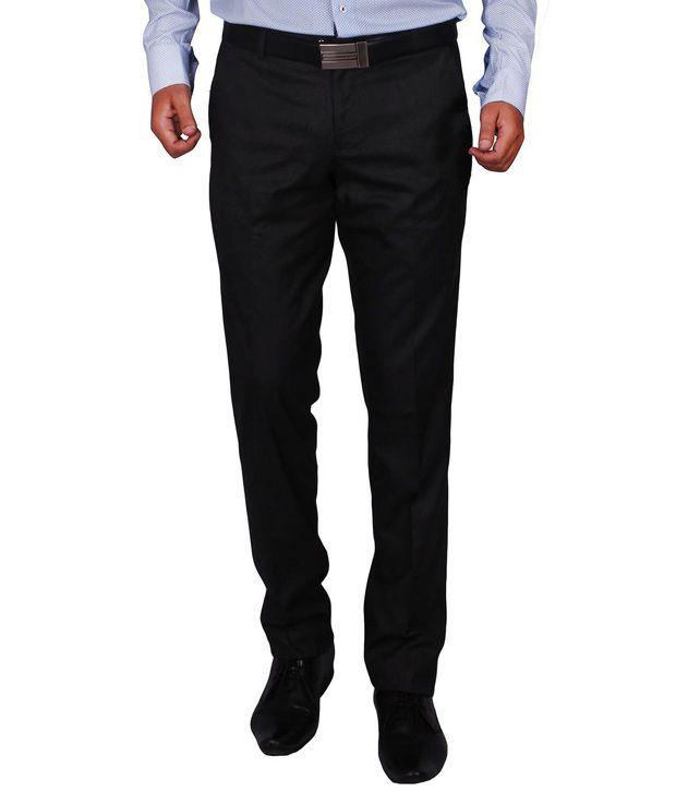 Dcode Grey Slim Fit Flat Trousers
