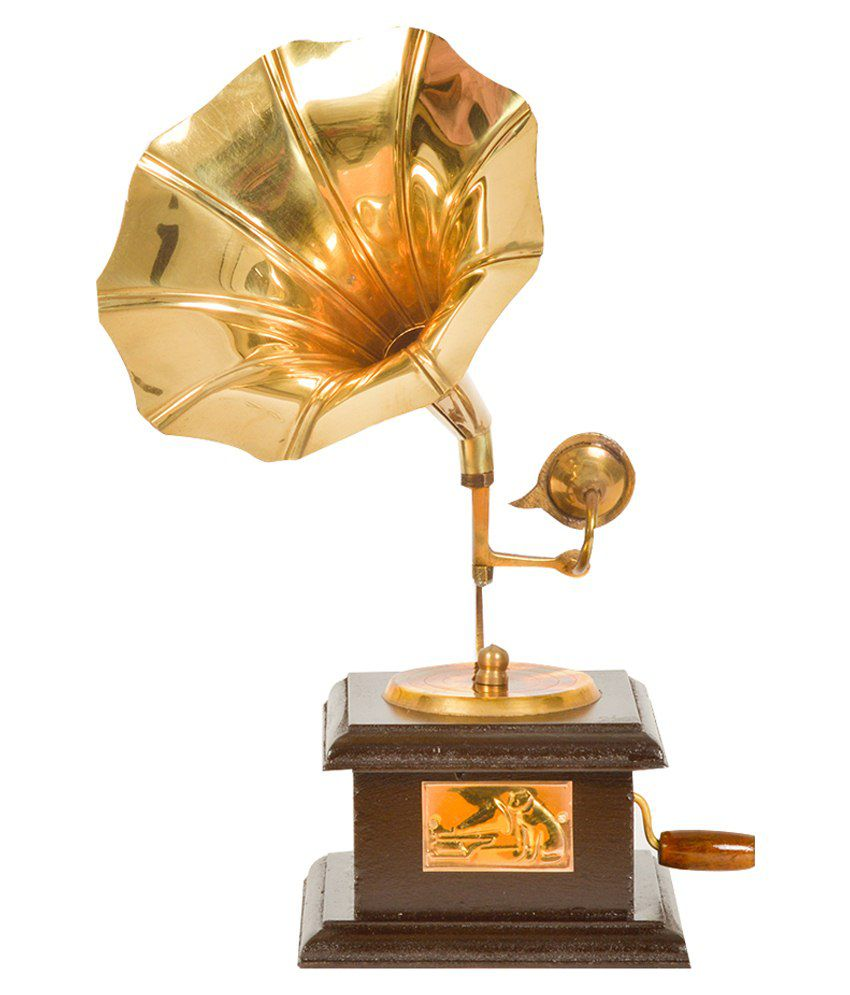 Fiwl Exports Llp Brown Wood Gramophone