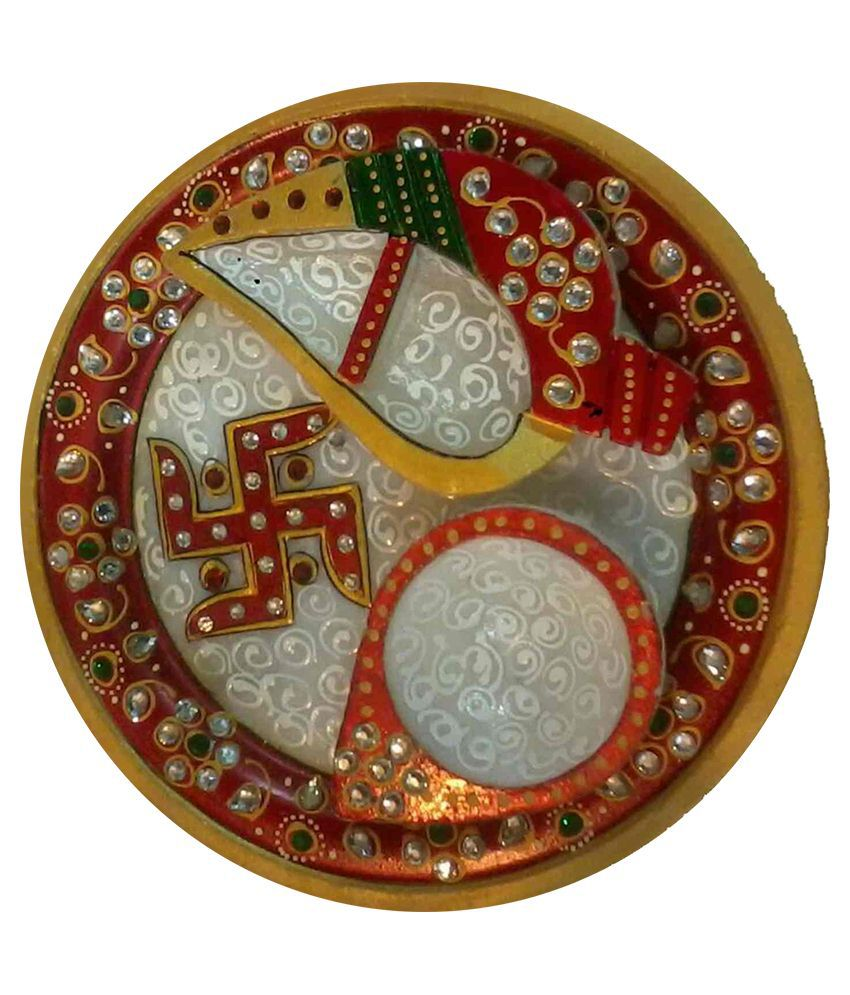 ADVANCE HOTLINE Advance Hotline Handmade Printed Pooja Thali