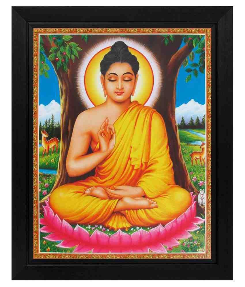 avercart textured lord buddha gautam buddha poster with frame buy