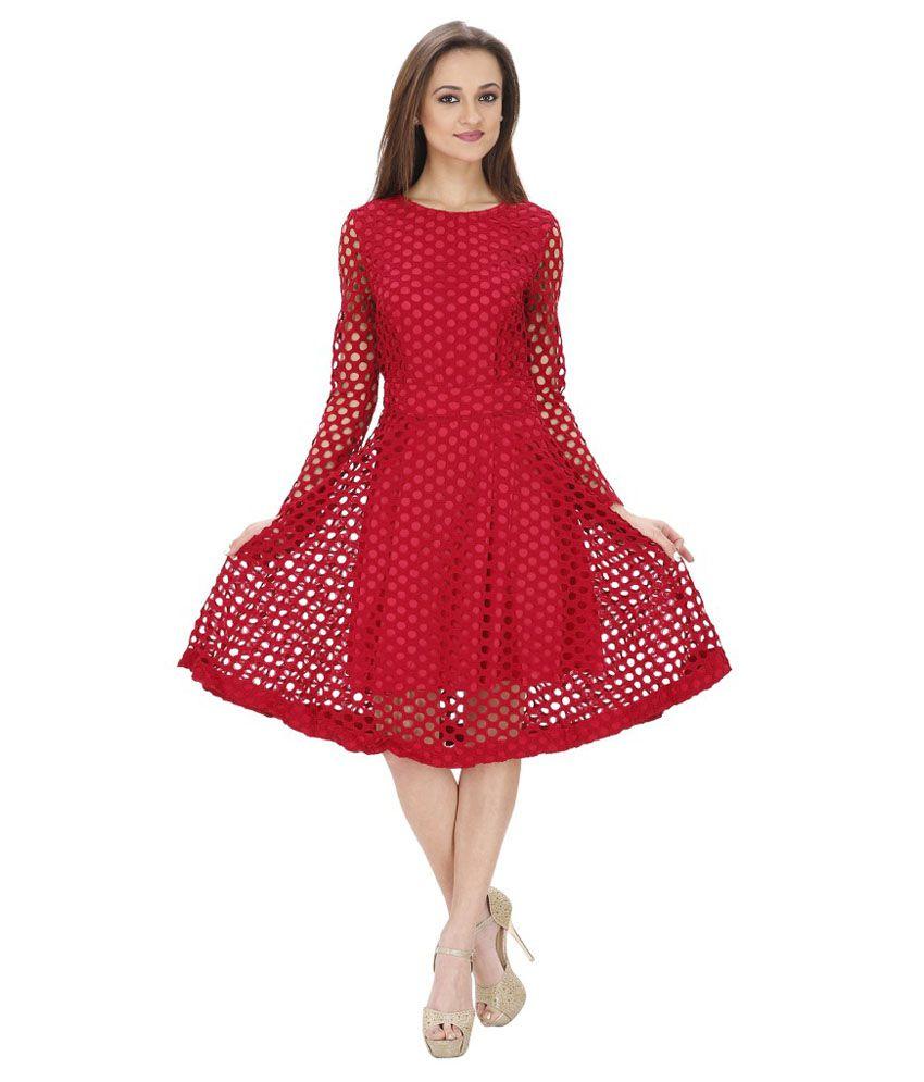 SVT ADA Collections Pink Net A Line Dress