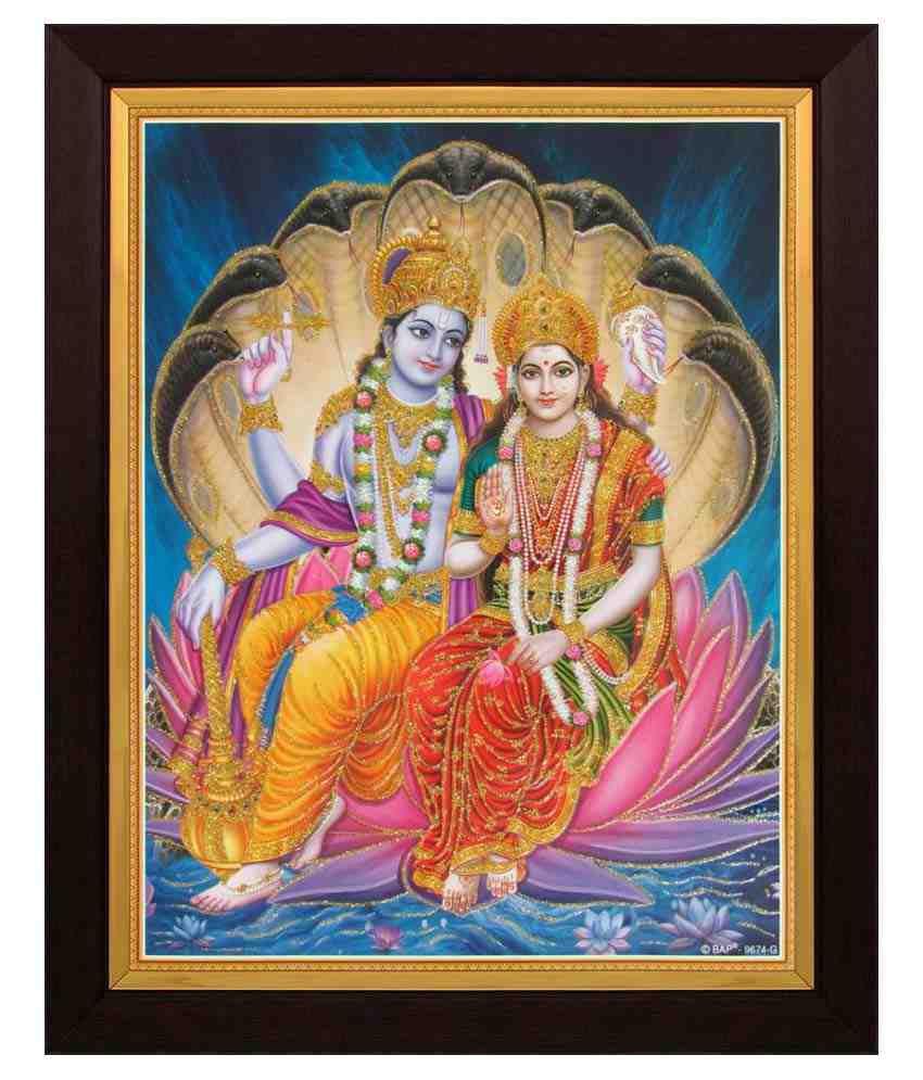 Avercart Textured Lord Vishnu And Laxmijivishnu With Lakshmiji