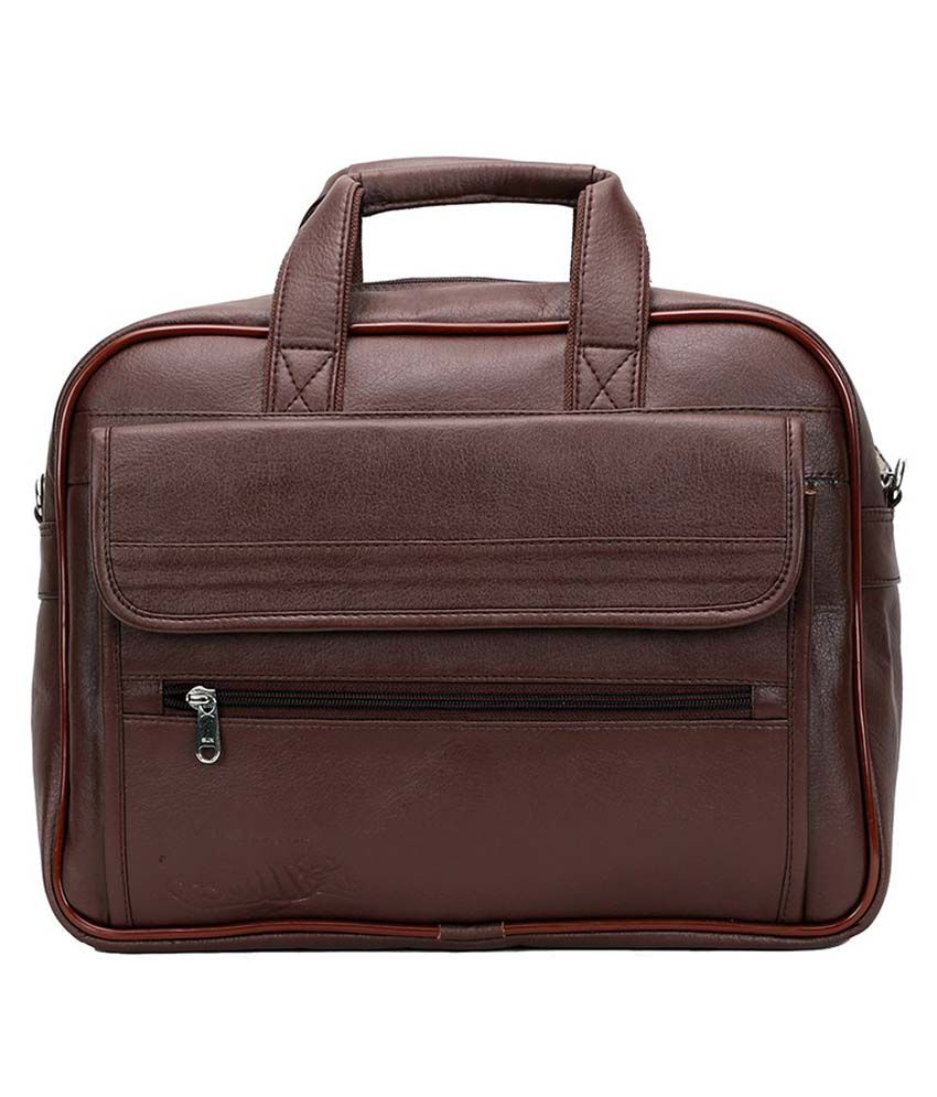 Elligator Brown PU Laptop Bag