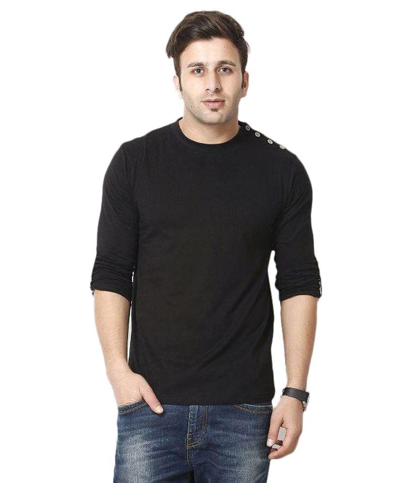 Gritstones Black Round T Shirts