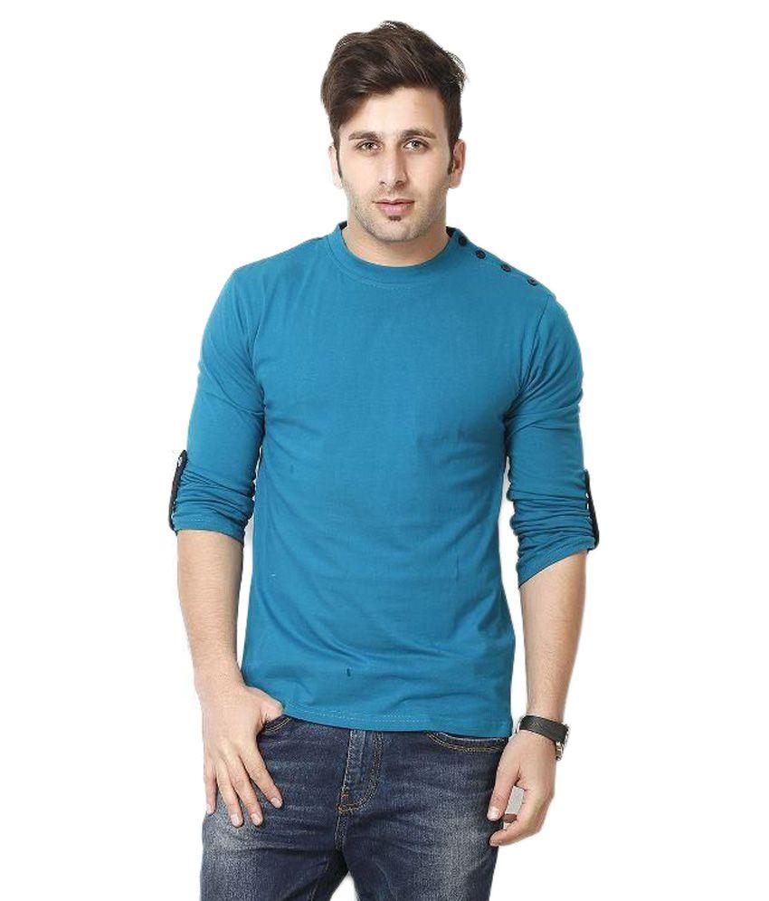 Gritstones Blue Round T Shirts