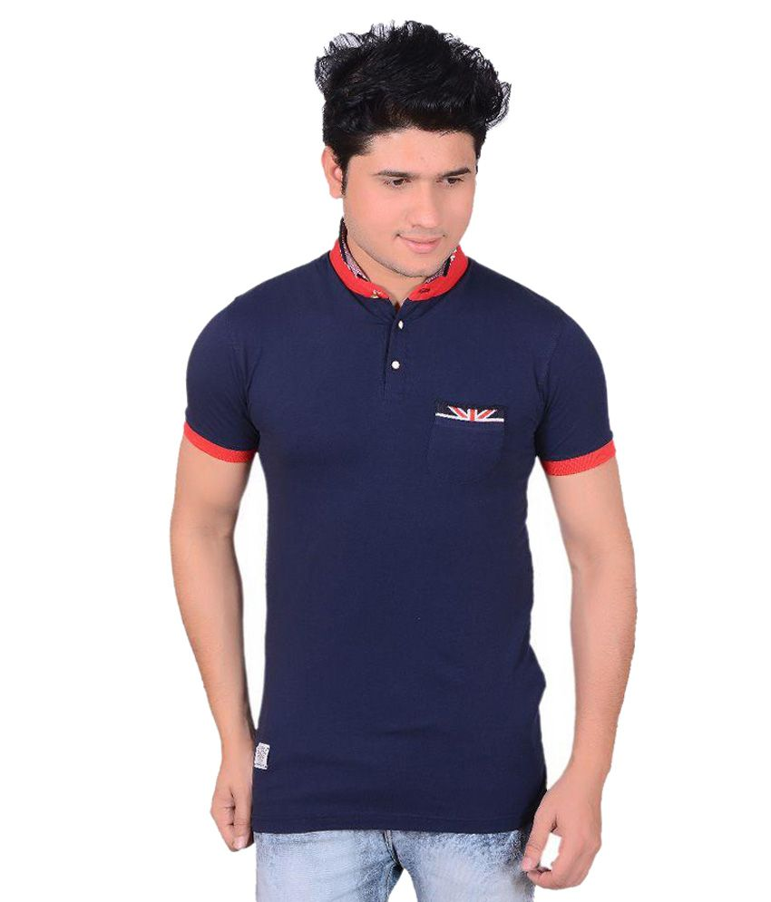 Jolly Navy Henley T Shirts