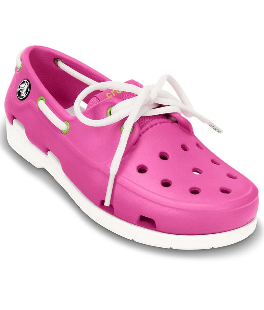 ebed5fb58dae52 Crocs Relaxed Fit Pink Casual Shoes For Kids Price in India- Buy Crocs  Relaxed Fit Pink Casual Shoes For Kids Online at Snapdeal