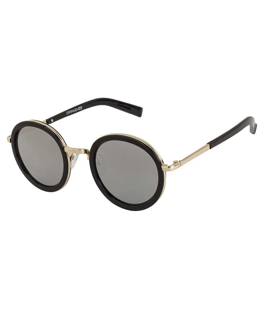 Danny Daze Silver Round Sunglasses