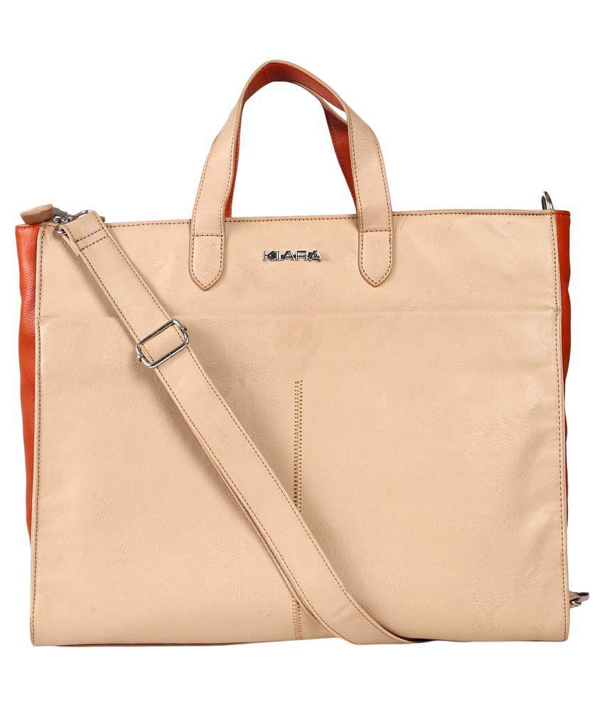 Kiara Beige Laptop Bag