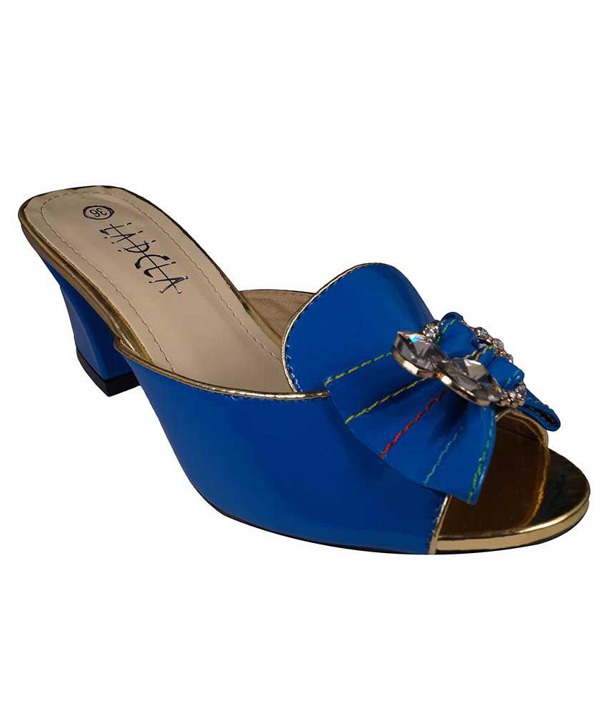 Ladela Blue Block Heels