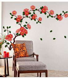 Wonderful Quick View. Stickerskart Multicolor Floral Branch Sofa Living Room  Background Antique Flowers Vinyl Art Wall ...