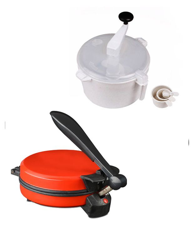 GTC Combo Of Eagle Detachable Red Roti Maker With Dough Maker