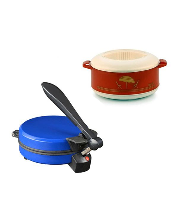 GTC Combo Of National Blue Detachable Roti Maker With Casserole