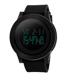 Skmei Full Black Digital Rubber Strap Watch