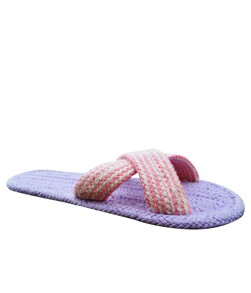 Homework Furnishings Purple  Flip Flops Pack Of 2