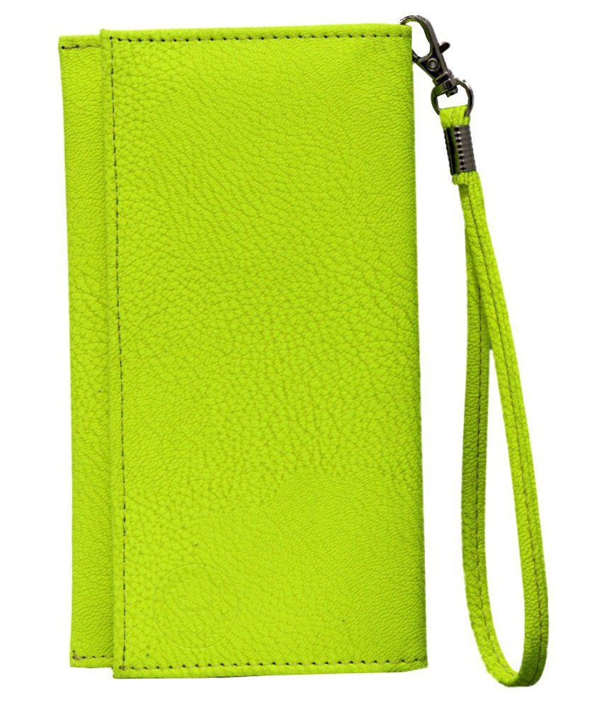 Jo Jo Wallet Case Flip Cover For Swipe Marathon - Green