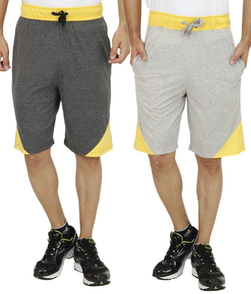 Christy world Grey Shorts With Shorts