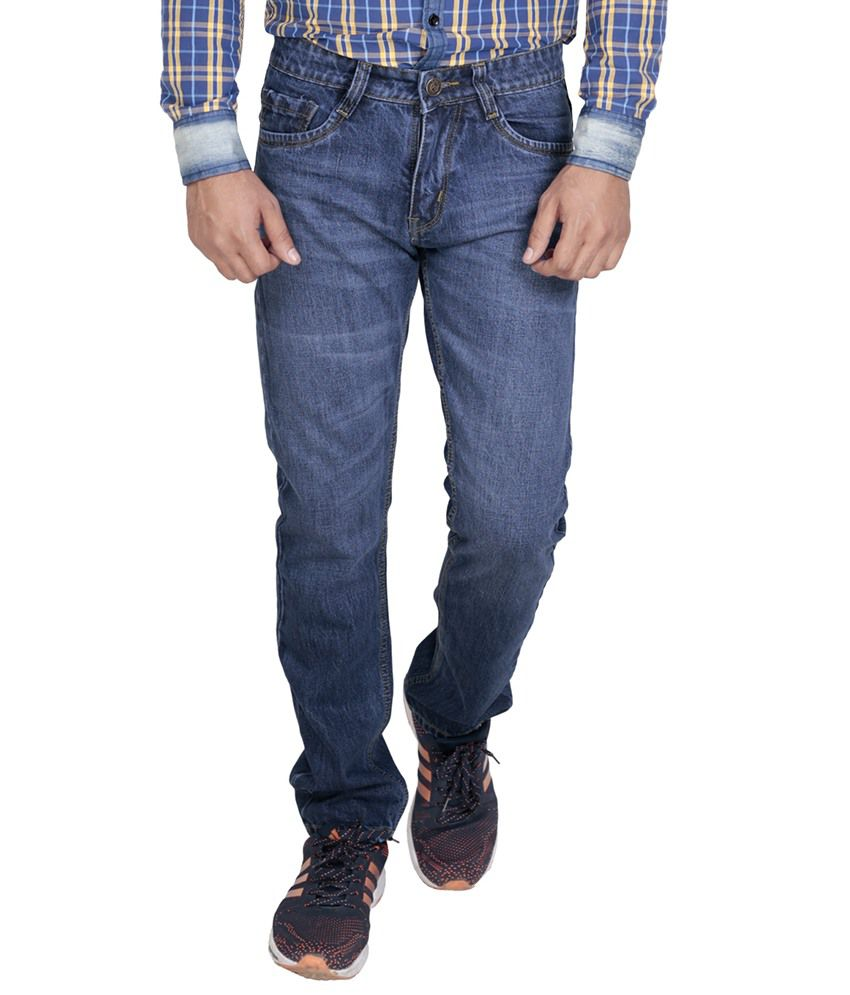 Baba International Blue Regular Fit Jeans